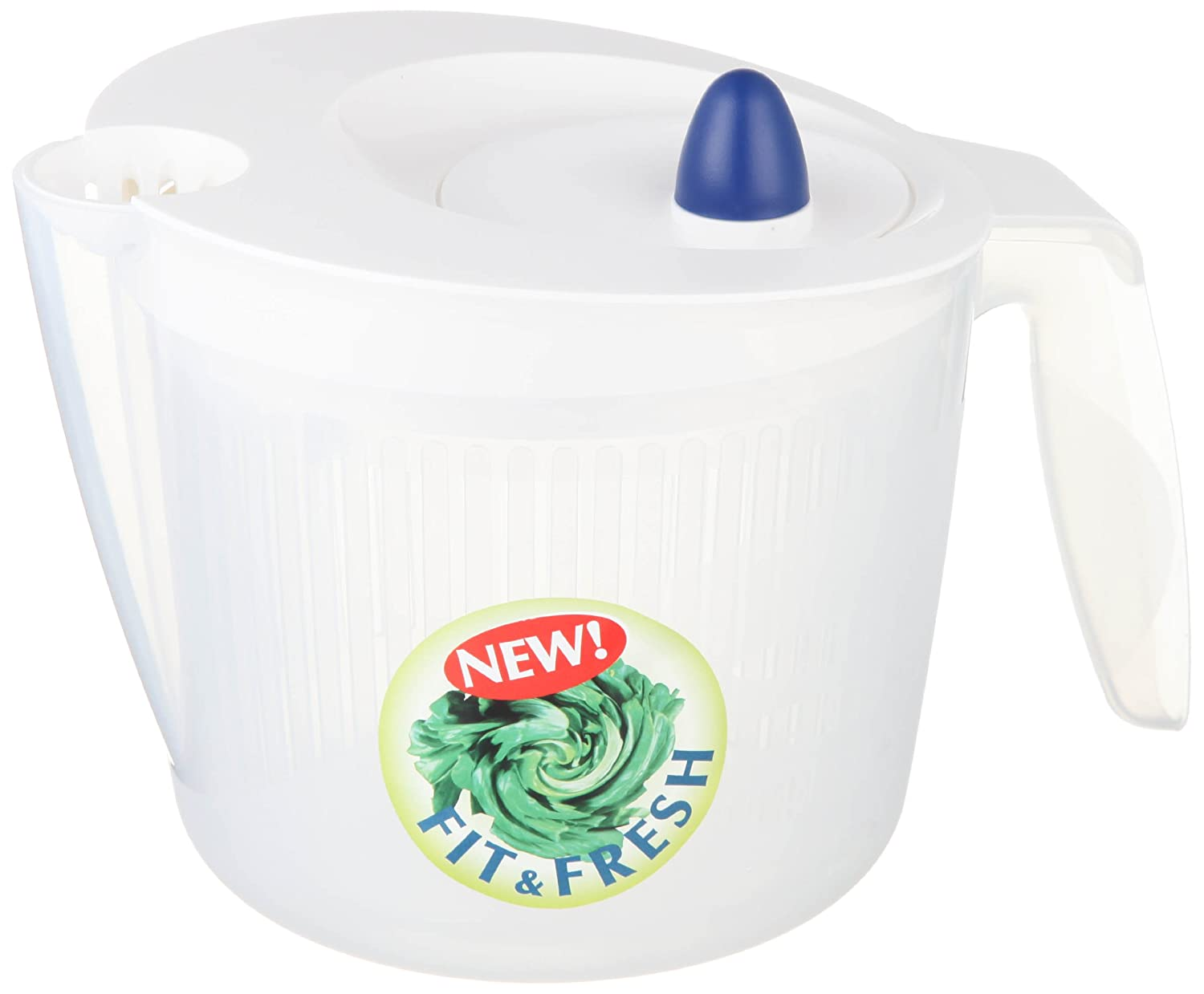 Emsa 502992 Fit and Fresh small salad spinner, 2.0 litres, white