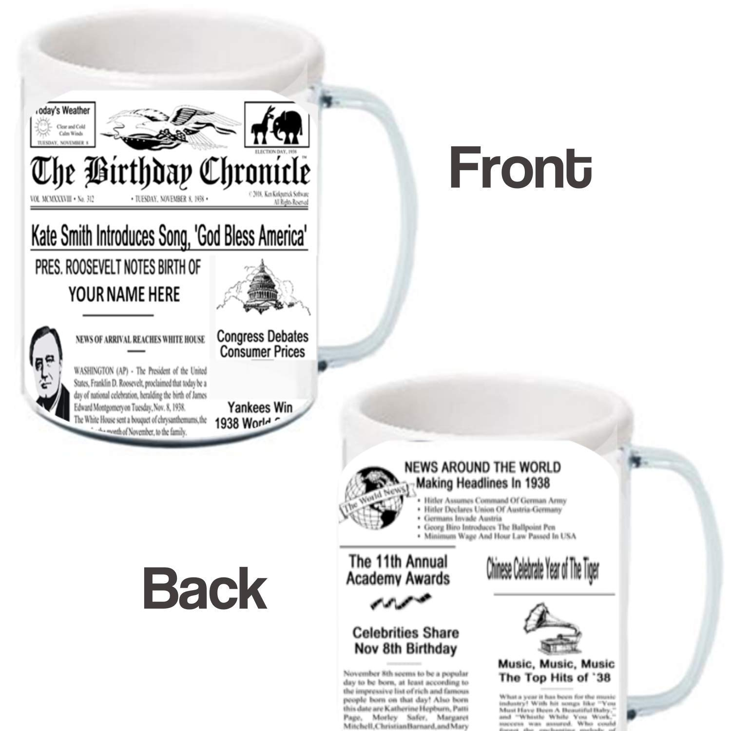 EVENTS HIGH LIGHTS FUN FACTS FROM 1900-2015 CUSTOMIZED PERSONAL BIRTHDAY NEWSPAPER CHRONICLE PRINT SPECIAL ANNOUNCEMENTS THAT HAPPENED THE DAY-YEAR YOU WERE BORN