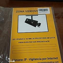 Cartel A4 rigido zona vigilada videovigilada de camaras ...