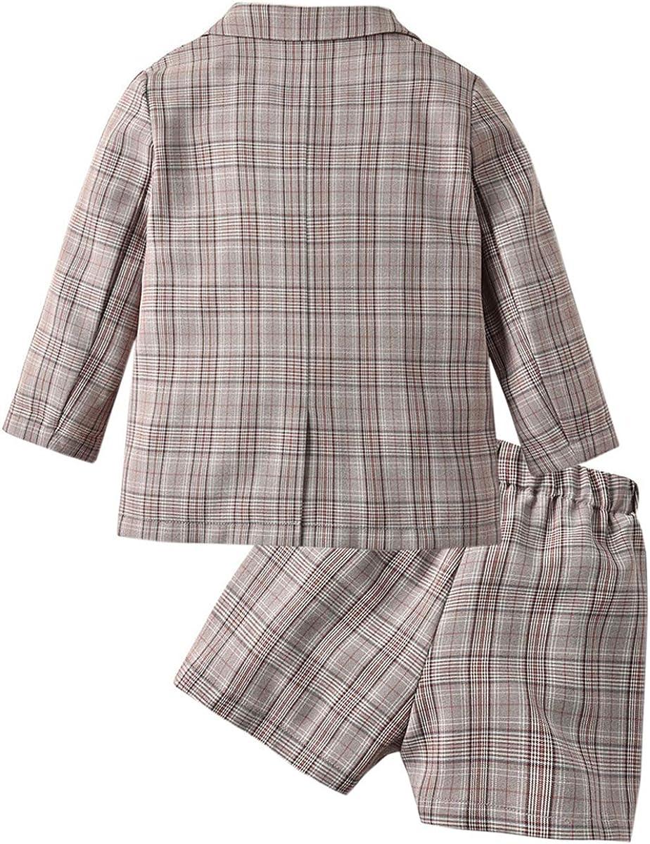 SANGTREE Girls Plaid Jacket /& Skirt Set