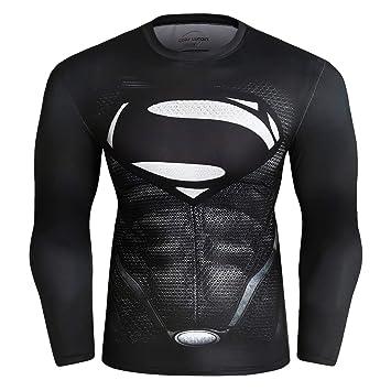 Cody Lundin Superhero, Camisas Ajustadas de Manga Larga para Hombre, Camisetas de Deporte, Camisetas de Deporte para Hombres: Amazon.es: Deportes y aire ...