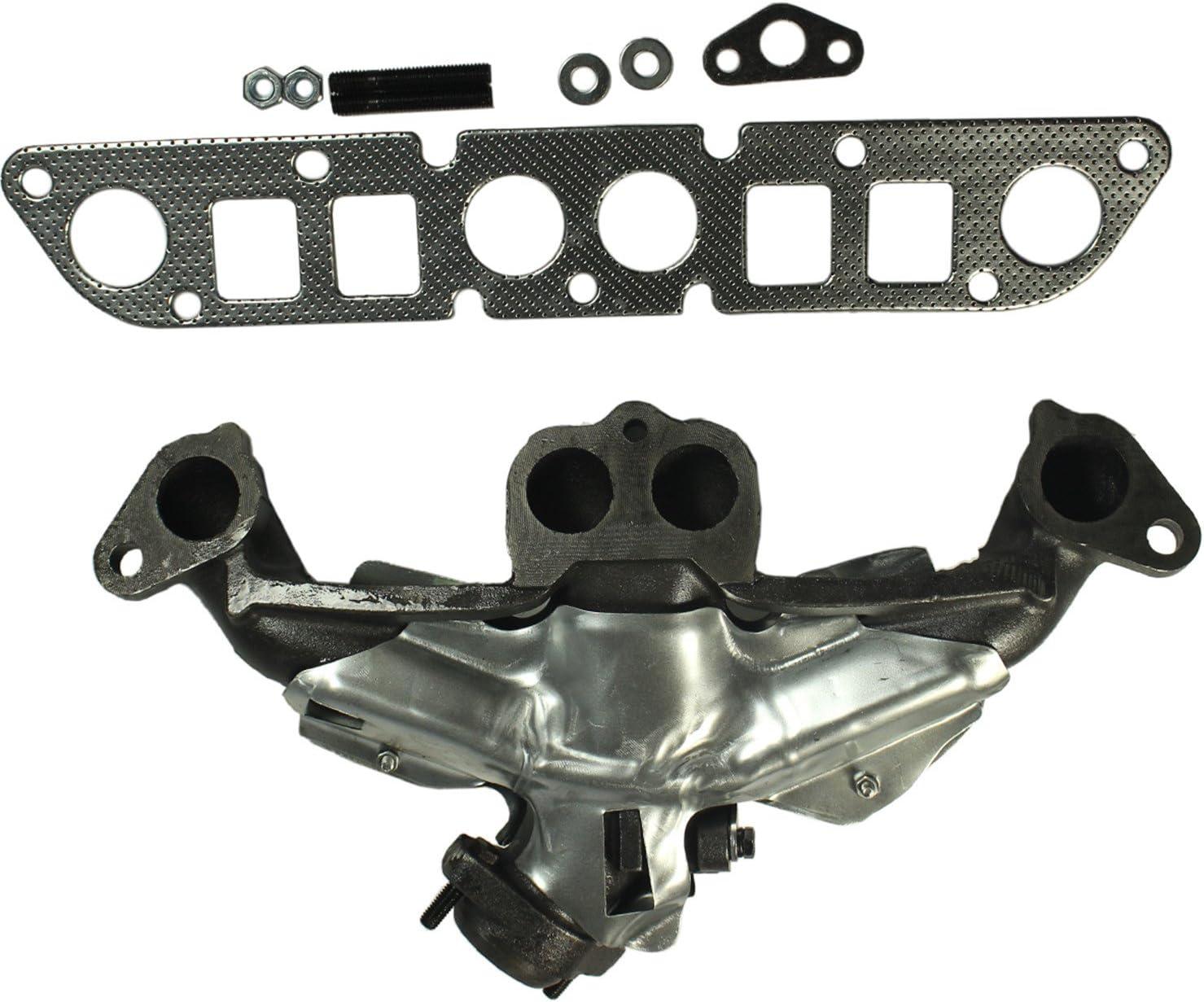 Exhaust Manifold /& Gasket Kit for Cherokee Dakota Truck Wrangler 2.5L Cast Iron