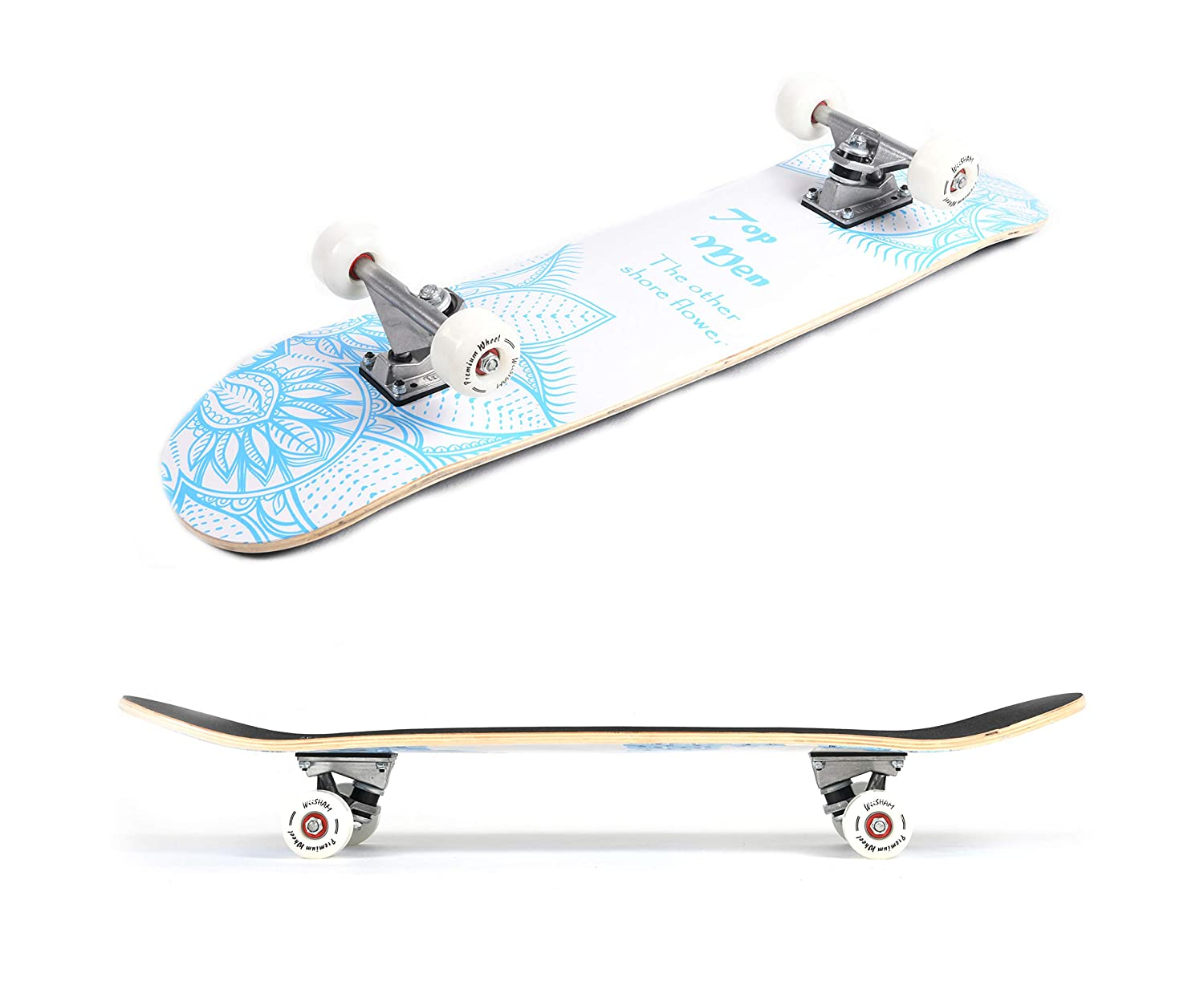 X Free Skateboards 31 Inches Complete Skateboards for Beginners Pro Skateboards 31 Complete Skateboard Skateboards Teens Skateboard Beginners Skateboards Girls Kids Skateboard.Skateboards Adults
