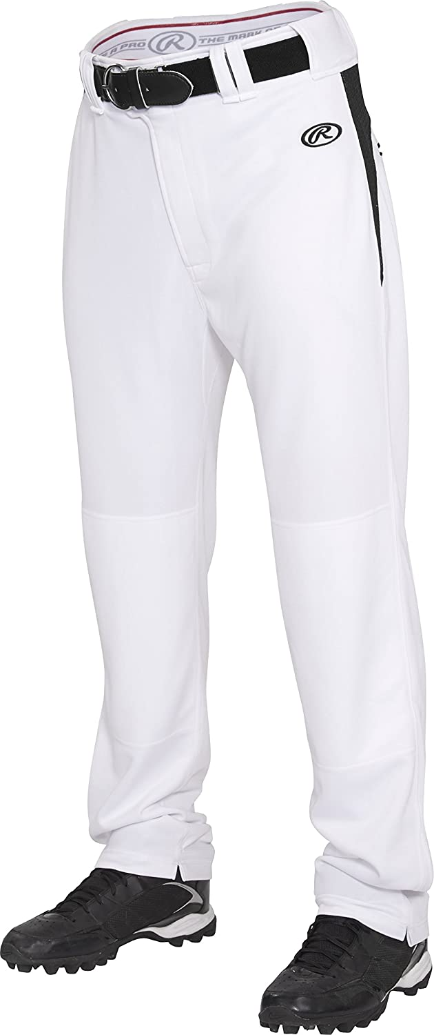 Rawlings Youth semi-relaxedパンツwithウエスト挿入 B013I2IPGM X-Small|ホワイト/ブラック ホワイト/ブラック X-Small