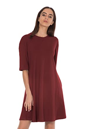 4255f529bfd2 Bewakoof Women s Flared T-Shirt Dress  Amazon.in  Clothing   Accessories