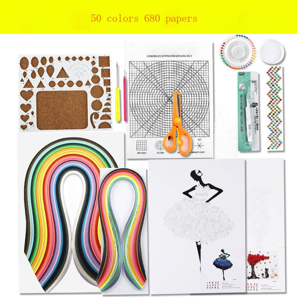SZQLF Quilling Paper,Paper Quilling Kits,Paper Quilling Tools and Supplies DIY Design Drawing Handcraft Tool by SZQLF
