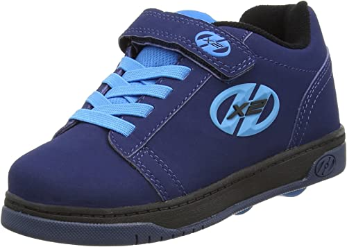 Boys Heelys Children Boys Dual Up X2 Skate Shoes in Black Grey UK 2