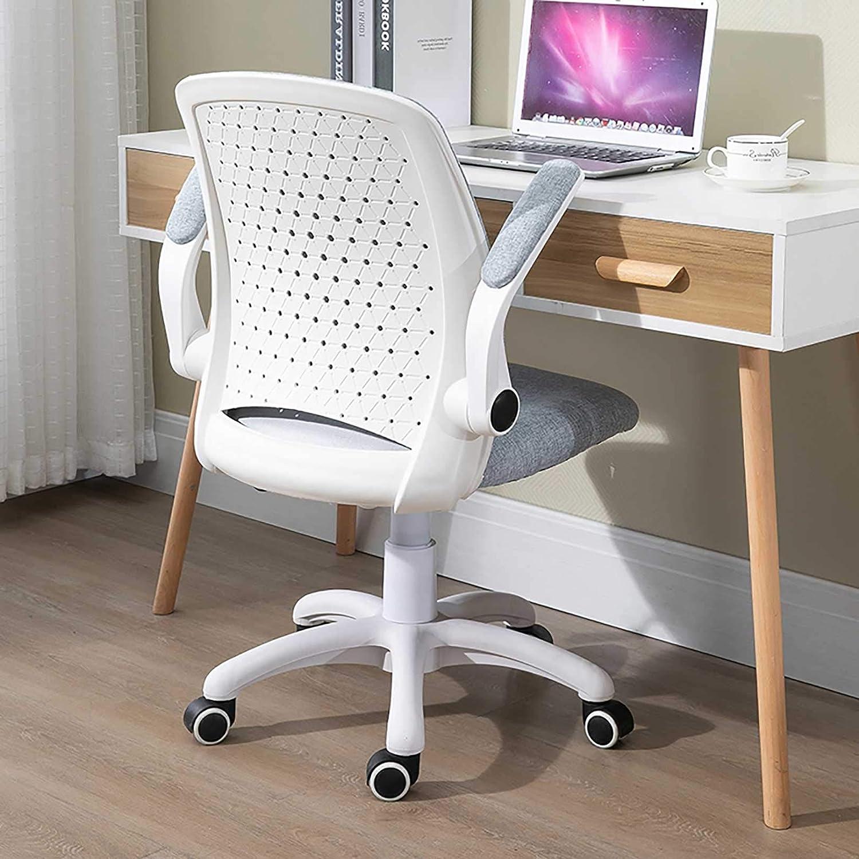 GAOPANG dator spelstol hem roterande kontorsstol lyftbord bord stol ländrygg stöd emulsion svamp flip-up-armar, rosa/blå BLÅ