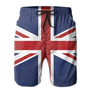 dcd1d26842 Men's Union Jack Flag Quick Dry Summer Beach Surfing Board Shorts Swim  Trunks Cargo Shorts Medium