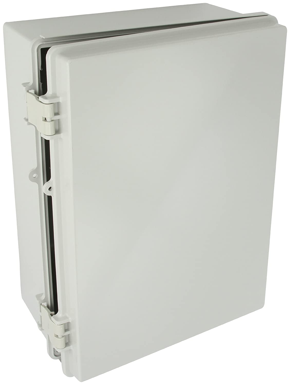 Light Gray Finish BUD Industries NBF-32326 Plastic Outdoor NEMA Economy Box with Solid Door 15-47//64 Length x 11-51//64 Width x 6-9//32 Height