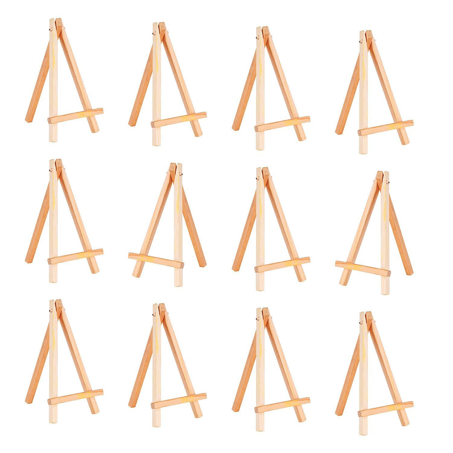 12 Pack Mini Wood Display Easel (6.25 Inch) Md trade