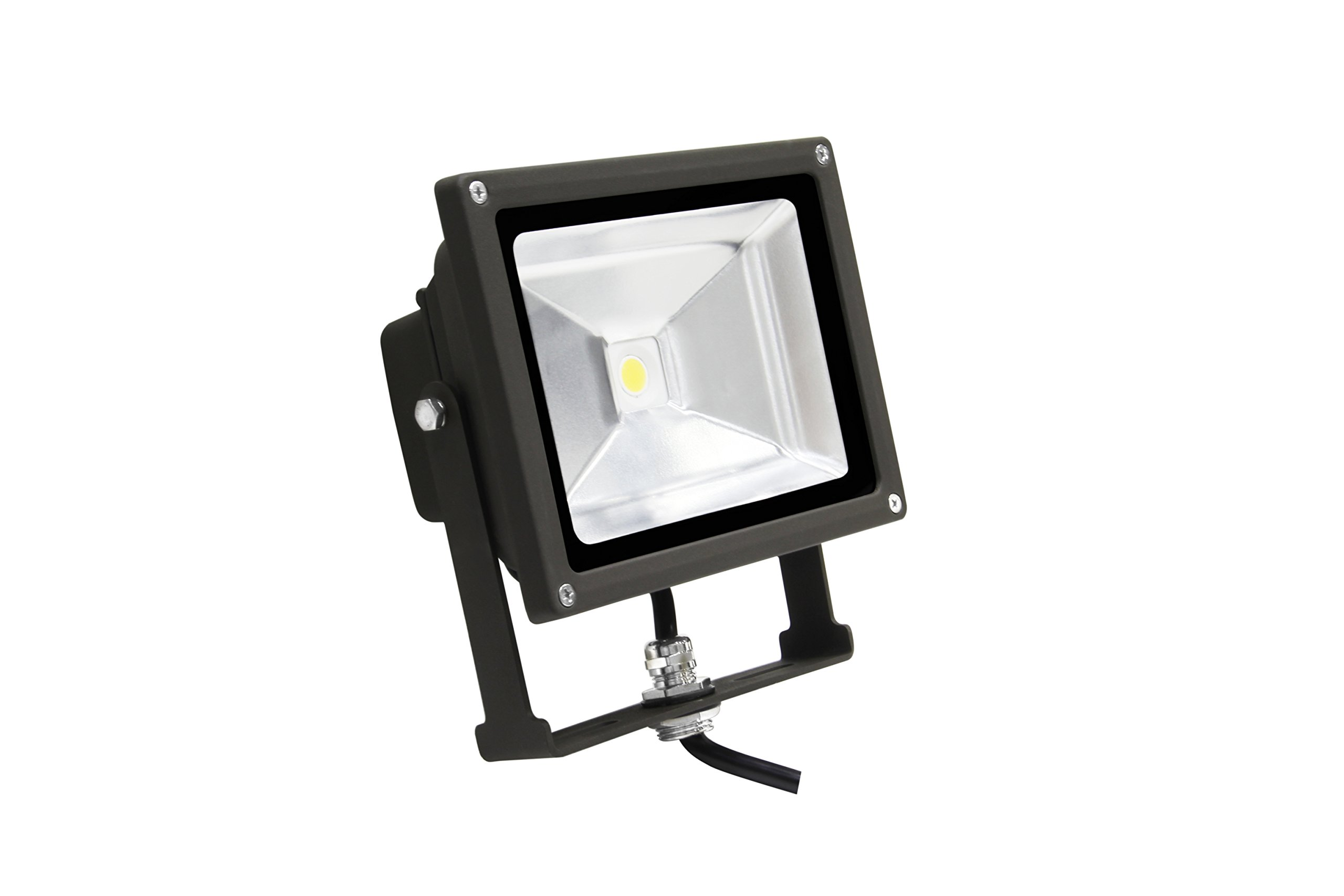 MaxLite FLS20U50B Led Small Flood - 19W, 120-277V, 5000K, Bronze, Nema 7H x 6V Wide Dist.,