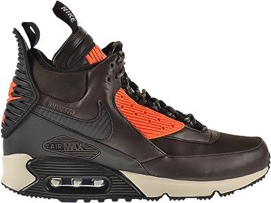 hecho Todo tipo de sobre  Amazon.com: Nike Air Max 90 invierno botas de zapatillas para hombre café  terciopelo/black-hyper Carmesí 684714 – 200, Marrón: Shoes