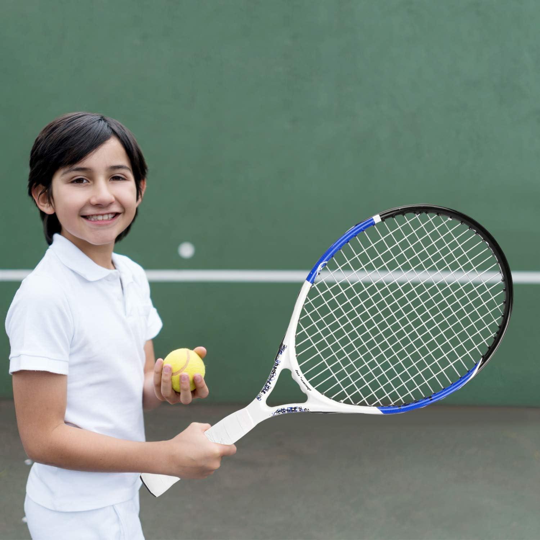 ideale per bambini e bambine allenamento sport 55/CM Philonext Racchetta da tennis junior , 54,9/cm Carbon aluminum Frame Kids racchetta da tennis lavorati con tasca portaoggetti
