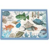 "Michel Design Works Sea Life Wooden Decoupage Vanity Tray, 12.25"" x 7.75"""