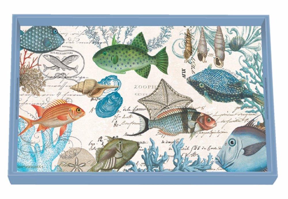 Michel Design Works Sea Life Wooden Decoupage Vanity Tray, 12.25'' x 7.75''