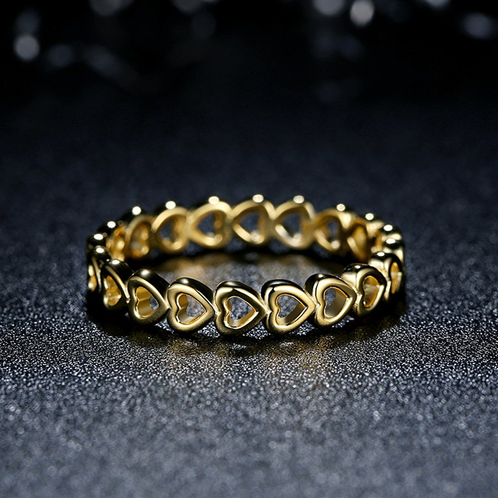 Everbling Linked Love 925 Sterling Silver Stackable Ring by Everbling (Image #2)