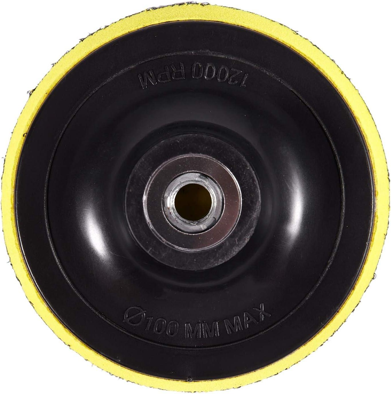 Bestlymood Polierteller Stuetzteller Schleifteller Klettteller M14 Fuer Poliermaschine Neu K1 Gewindedurchmesser:100MM