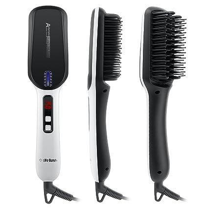 LifeBasis Cepillo aLisador con calor, cepillo alisador de cabello Cepillo que endereza los hierros que