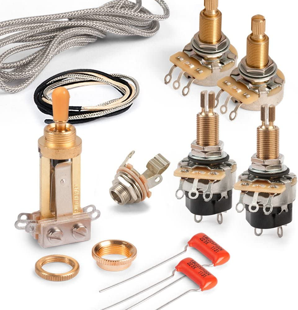 [DHAV_9290]  Amazon.com: Golden Age Premium Wiring Kit for Gibson Les Paul with  Push-pull Pots, Long-shaft CTS Pots and Gold Switchcraft Switch: Musical  Instruments | Details About Wiring Harness For Les Paul Cts Pots |  | Amazon.com