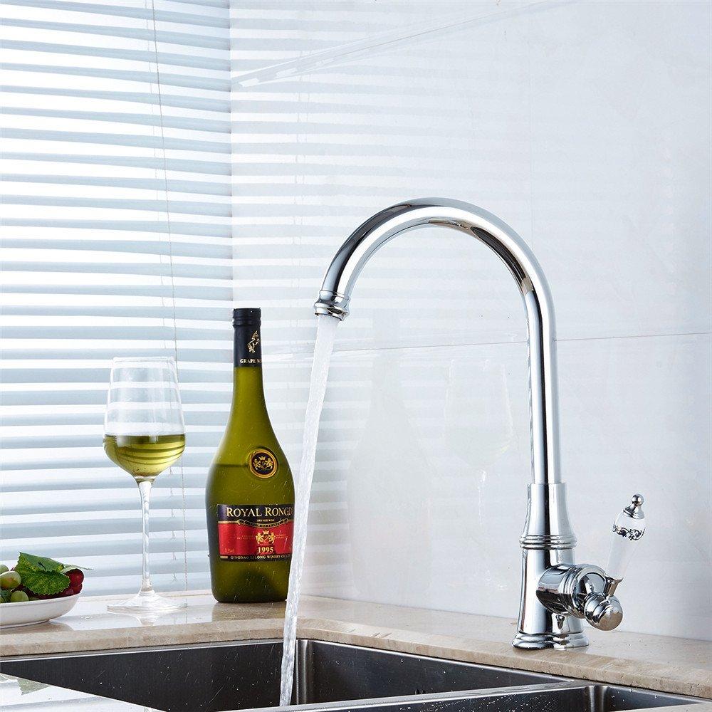 FHLYCF (wasserhahn, voller kupfer küchenarmatur, waschbecken mit ...