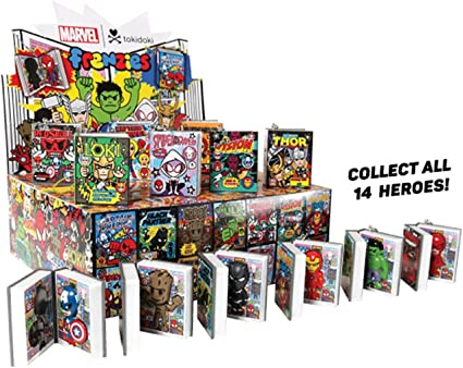 Marvel Mini Comic Frenzies Tokidoki Blind Box Figure Book Incredible Hulk
