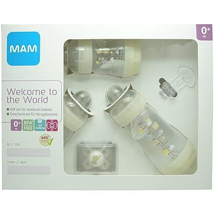 MAM Bienvenido a el mundo botella Set para recién nacidos Unisex ...