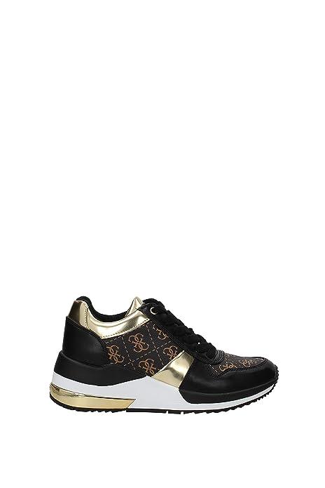Guess Sneaker Donna Fondo Running Zeppa MOD. Janett Ecopelle Brown D19GU62   Amazon.it  Scarpe e borse e38171fdbe5
