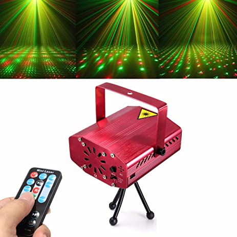 amazon com jeteven stage lights red and green star led projector