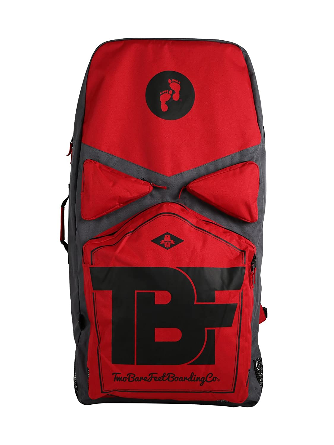 8f84004e91 Two Bare Feet TBF Deluxe Triple Bodyboard Carry Bag (Red)  Amazon.co.uk   Sports   Outdoors