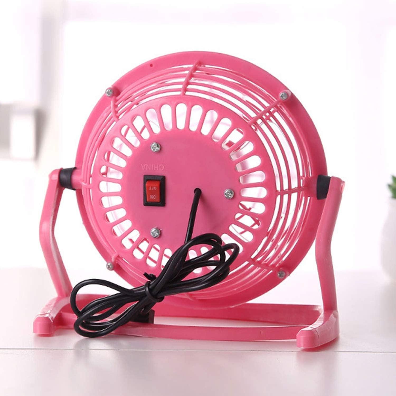 Dc 5V 2.5W USB Mini Fans Portable Creative Pc Laptop Silent Desk for Gadget,Pink