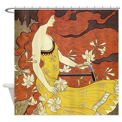 Image Unavailable Not Available For Color CafePress Art Nouveau Shower Curtain