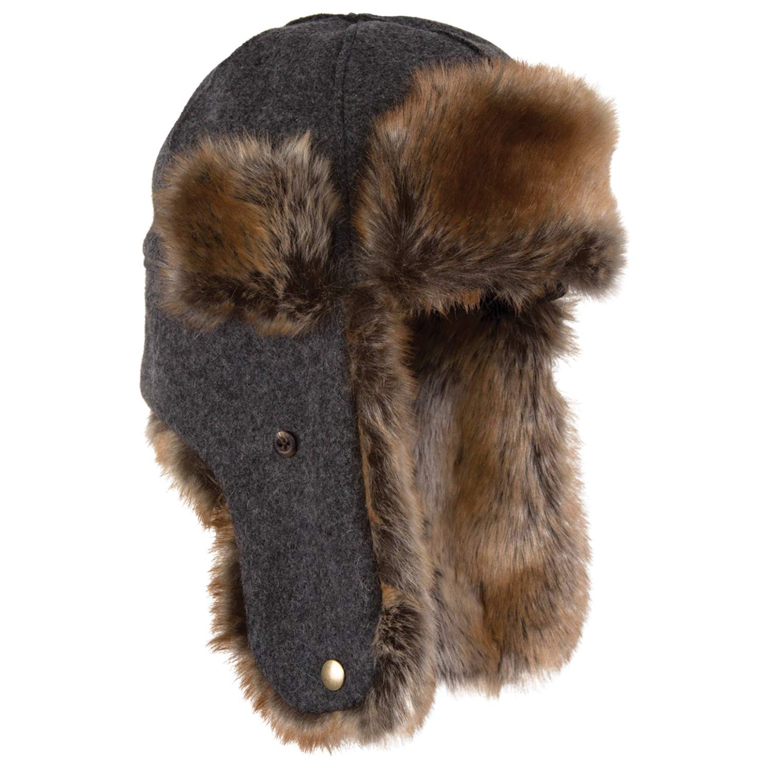 Stormy Kromer The Northwoods Trapper Hat, Color: Charcoal, Size: XL (51210-00007 by Stormy Kromer