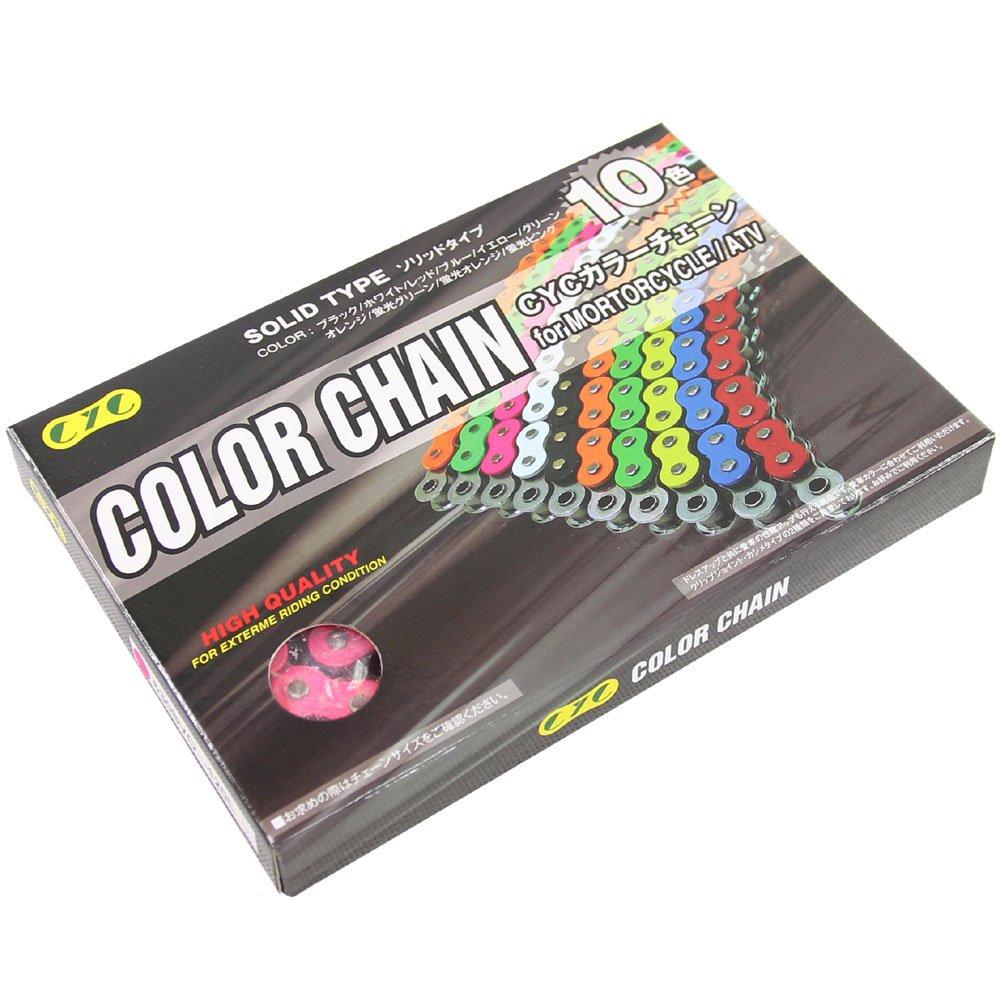 CYC カラーチェーン 530SVO 120L 蛍光ピンク シールチェーン T03Z9990054ZZ   B011KLELV6