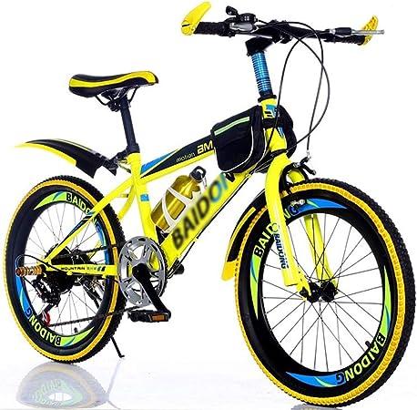 Bicicletas Triciclos Montaña For Niños De 20 Pulgadas For Adultos Carreras Todoterreno Masculinas Y Femeninas Senderismo For Niños (Color : Yellow, Size : 20inch): Amazon.es: Hogar