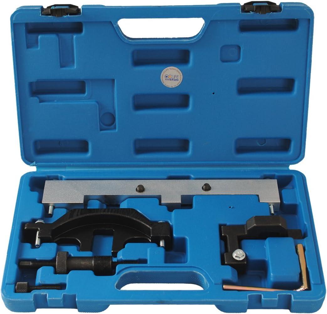 Cclife Motor Einstellwerzeug Arretierwerkzeug Steuerkette Wechsel Werkzeug Kompatibel Mit Bmw 1 6 N40 N45 N45t 116i 316i 316ti Auto