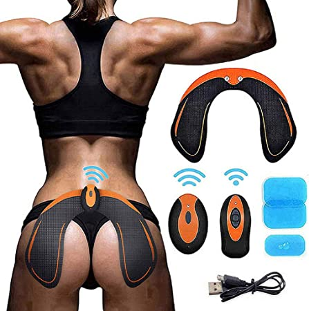 EGEYI Hips Trainer Electrostimulateurs fessier,Intelligent Portable Massage pour Aider /à Fa/çonner Le Muscle et /à Sculpter Les Courbes et Raffermir Les Fesses Femme Homme