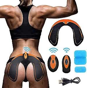 MATEHOM Hips Trainer Electroestimulador Muscular,Gluteos Estimulador de Glúteos Herramientas Nalgas HipTrainer para la Cadera Mujer USB Recargable