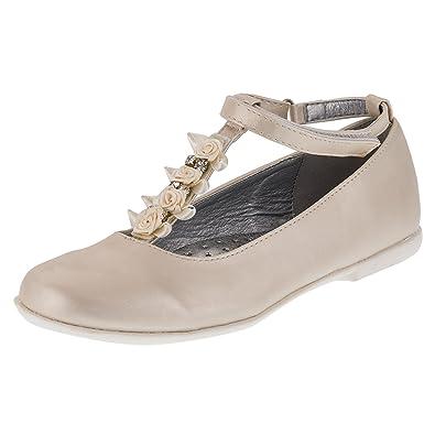 5bdeab1c21ad72 Giardino Doro Festliche Innen Echtes Leder Mädchen Ballerinas Schuhe Für  Hochzeit Blumenmädchen und Freizeit M406be2 Beige 38  Amazon.de  Schuhe    ...