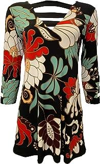 product image for Eva Varro 3/4 SLEVES Strip Banded Tunic -Eliza
