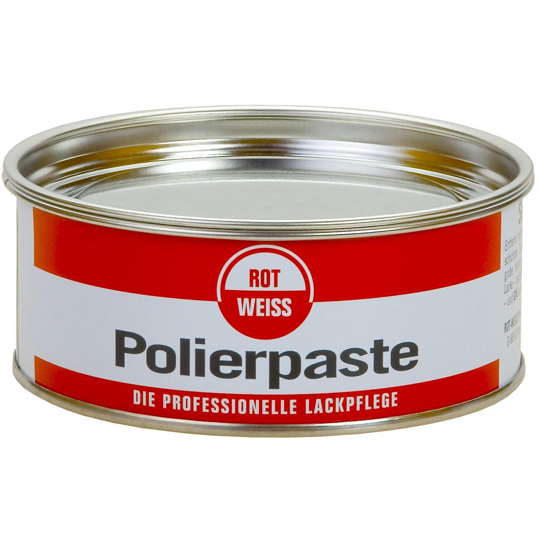Rojo y blanco 1100 ROT WEISS pasta pulidora 200 ml, sin siliconas Rotweiss