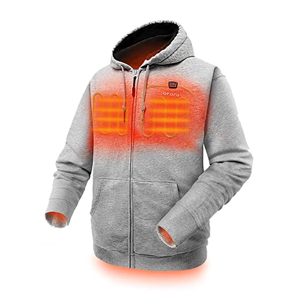 52f167c7 ORORO Heated Hoodie with Battery Pack