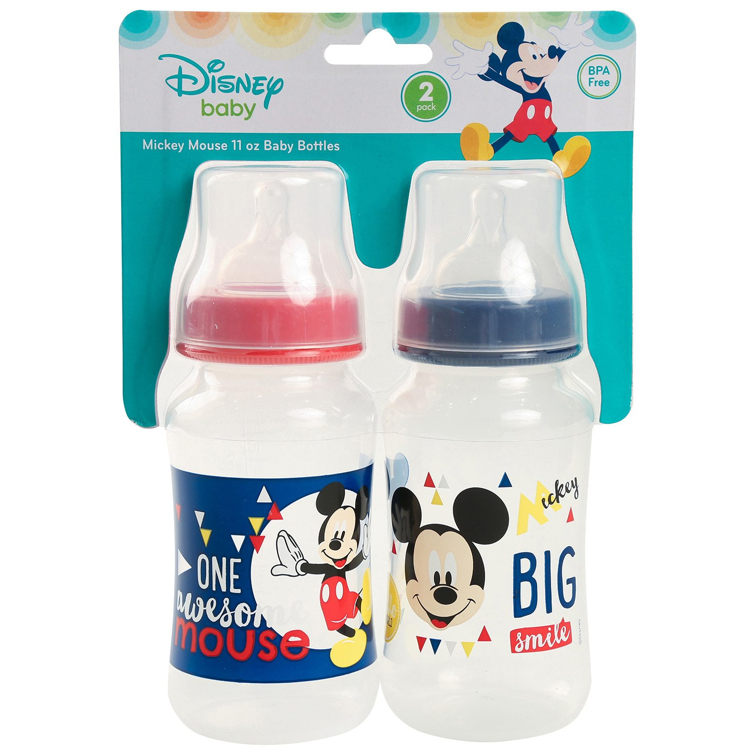 Disney Minnie Mouse 2-Pack Bottle Brushes