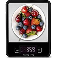 CK Kitchen Scale Premium Stainless Steel Food Scale For Weighing Measuring Cooking Baking Accurate Digital Display…
