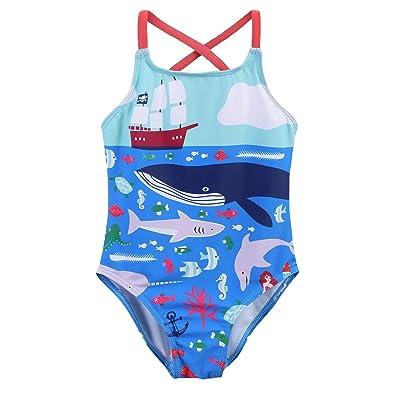 Arshiner Kid Girls One Piece Swimsuit Beach Sport Cross Straps Swimwear