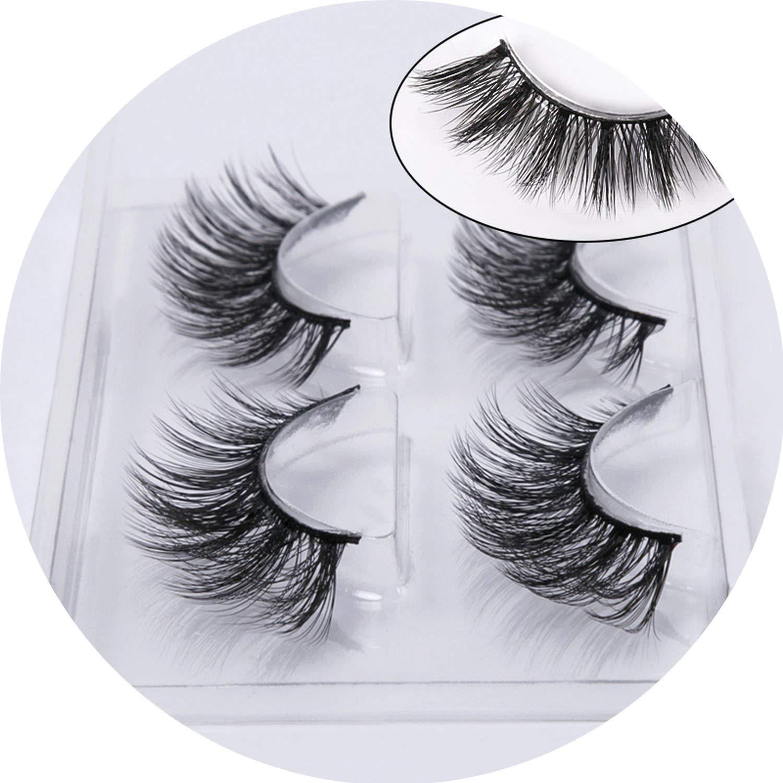 bfbe94317be Amazon.com : Peony red 2/4 pairs natural false eyelashes fake lashes long  makeup 3d mink lashes eyelash extension mink eyelashes for beauty, 759 :  Beauty