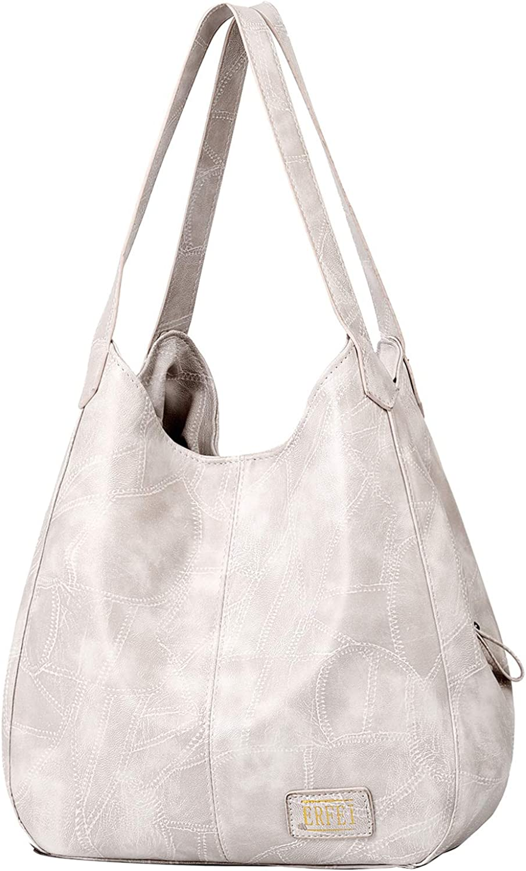 Big Handbag Shop Womens Soft Faux Leather Hobo Two compartment Shoulder Bag