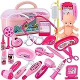 おままごと ごっこ遊び お医者さんごっこ お医者さんセット 収納 21点 人形 知育玩具 女の子 おもちゃ ピンク 誕生日 クリスマス プレゼント