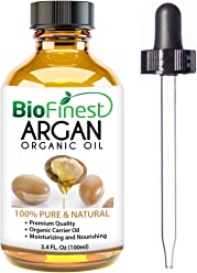 Organic Argan Oil for Hair, Face & Skin - 100% Pure, Natural, Cold Pressed - Certified Organic Virgin Oil From Morocco - Anti-Aging, Anti-Oxidant moisturizer - 100ml (3.4 fl.Oz)