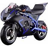 V-Fire 4-Stroke 40CC Kids Gas Pocket Bike (EPA Registered, NO CA sales), Blue/Black